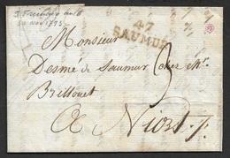 1793 - LAC - 47 SAUMUR - MAINE ET LOIRE  - 29mm X 11mm - Poststempel (Briefe)