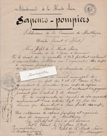 Création De La Compagnie De Sapeurs Pompiers / 1904 /  Montbozon 70 - France