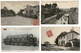54 CP(SNCF Clermont-St Triviers-St Germain-Loco)Aviat+Sortie Usine+Tambourins+Carnav+Rouet+2 Sur Soie+Teckels+Ardoisière - Cartes Postales