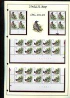 Belgie 2921 CPFL Buzin Vogels Birds Feuille De Collection Numéro De Planche Plaatnummer Drukdatum - 1985-.. Birds (Buzin)