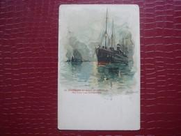 NOORLAND By Nacht Op De Schelde - Red Star Line Antwerpen  ( Signé H. Cassiers ) - Paquebots