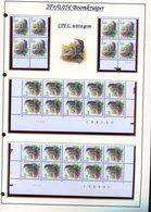 Belgie 2919 CPFL Buzin Vogels Birds Feuille De Collection Numéro De Planche Plaatnummer Drukdatum - 1985-.. Birds (Buzin)