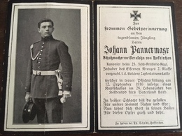Sterbebild Wk1 Ww1 Bidprentje Avis Décès Deathcard FAR23 Vorgeschl. GOLDENE TAPFERKEITSMEDAILLE AZANNES II Bl 4 Gr 134 - 1914-18