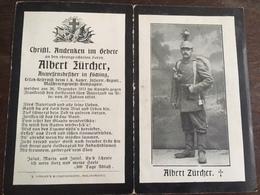 Sterbebild Wk1 Ww1 Bidprentje Avis Décès Deathcard IR1 MG BILLY MONTIGNY Block 3 Grab 138 Aus Föching - 1914-18