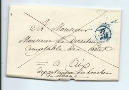 Lettre De Paris Pour Aix B Du R 1829 - 1801-1848: Précurseurs XIX