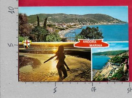 CARTOLINA VG ITALIA - ANDORA MARINA (IM) - Scorci Panoramici - Pin Up Nudo - Vedutine Multivue - 10 X 15 - ANN. 1978 - Imperia