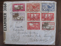 Nouvelle Calédonie 1941 Censure Angleterre France New Caledonia GB UK Cover Enveloppe Lettre Colonie WW2 - Nouvelle-Calédonie