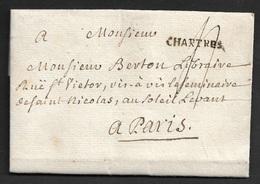1771 - LAC - CHARTRES ( EURE ET LOIRE ) 25mm X 3mm. Ind. 11. TB - Marcophilie (Lettres)