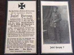 Sterbebild Wk1 Ww1 Bidprentje Avis Décès Deathcard RIR1 ARMENTIERES LAMBERSART Block 2 Grab 1115 Aus Bad Aibling - 1914-18