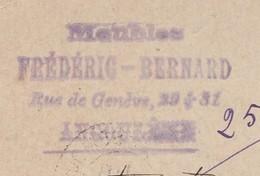 Carte Commerciale 1895 / Entier / FREDERIC BERNARD / Meubles / Rue De Genève / 16 Angoulême Charente - Cartes
