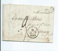 Lettre De Amiens Pour Douai 1829 - Marcophilie (Lettres)