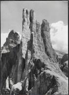 DOLOMITI - CATINACCIO - TORRI DEL VAJOLET - TIMBRO RIFUGIO PASSO SANTNER - FOTO GHEDINA - VIAGGIATA 1963 - Alpinisme