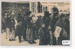 CP ( 2 Scans)  -15405 - 1914-1915 - Suisse - Genève - Scène Du Passage Des évacuées  Français - GE Genf