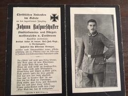 Sterbebild Wk1 Ww1 Bidprentje Avis Décès Deathcard RIR18 BUZANCY VAUX EN DIEULET Aus Tyrlbrunn - 1914-18