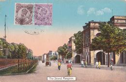 CPA The Strand - Rangoon - India Postage - Myanmar (Burma)