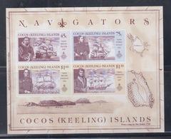 Cocos (Keeling) Islands 1990 Navigators S/S MNH - Cocos (Keeling) Islands