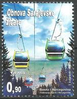 BH 2018-03 Reconstruction Of Sarajevo Ski Lifts, BOSNA AND HERCEGOVINA, 1 X 1v, MNH - Islam