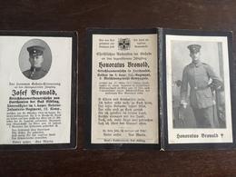 Sterbebild Wk1 Ww1 Bidprentje Avis Décès Deathcard RIR1 St. Laurent Blangy 30. Oktober 1914 + IR3 Flecktyphus - 1914-18