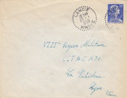 LETTRE. CACHET PERLÉ. RECETTE DISTRIBUTION.  RHONE LANCIE - Postmark Collection (Covers)