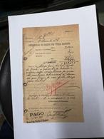 PORTUGAL CONTRIBUIÇÃO DE REGISTO POR TITULO GRATUITO 6 MARÇO 1914 - Portugal