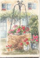 Le Puits Fleuri  Aquarelle Originale  D. LEBEAU - Peintures & Tableaux