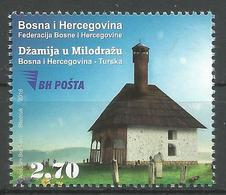 BH 2018-09 JOINT ISSUES BH-TURKEY, BOSNA AND HERCEGOVINA, 1 X 1v, MNH - Islam