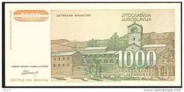 Yugoslavia 1000 DINARA 1994 / NEUF - Yougoslavie