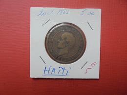 HAITI 20 CENTIMES 1863 - Haïti