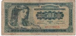 Yugoslavia 500 DINARA 1955 / - Yougoslavie