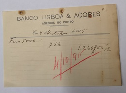 PORTUGAL BANCO LISBOA E AÇORES AGENCIA NO PORTO - Portugal