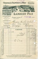 FACTURE-LAMBERT FILS-FROMAGES DE BRIE- SAMOIS-SEINE- ANNÉE-1927 - Alimentos