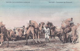 CPA  Turquie - 1911 - SMYRNE - Campement Des Chameaux - Timbre Du Levant - Turchia