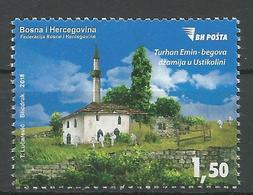 BH 2018-14 Mosque In USTIKOLINI, BOSNA AND HERCEGOVINA, 1 X 1v, MNH - Islam