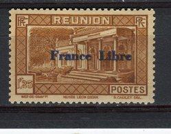 """REUNION - Y&T N° 207** - Musée Léon Dierx à Saint-Denis Surchargé """"France Libre"""" - Réunion (1852-1975)"""