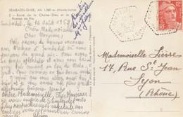 CARTE.  CACHET PERLÉ HEXAGONAL. AGENCE POSTALE. HAUTE-LOIRE SEMBADEL - 1921-1960: Modern Period