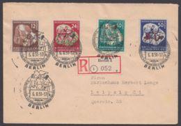 """Mi-Nr. 289/92, """"Weltfestspiele"""", Satz-R-Brief Mit Pass. Sst. - DDR"""