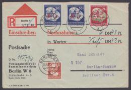 Mi-Nr. 292, 290, SBZ 214, Dek. Und Saubere MiF Auf R-NN-Postsache. 23.5.52 - DDR