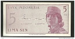 INDONESIE 5 LIMA SEN 1964 / NEUF - Indonésie