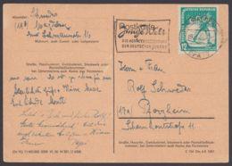 """Mi-Nr. 298, EF Auf Bedarfskarte """"Magdeburg"""", 9.2.52 - DDR"""