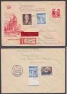 Mi-Nr. 340,356 I, Dek. MiF Mit Plattenfehler Auf R-Eilboten Mit Ankunft - DDR
