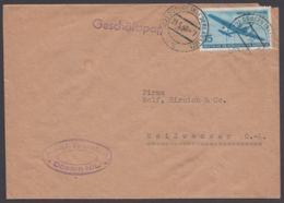 """Mi-Nr. 514, EF Auf """"Geschäftspost"""", """"Döbern/NL"""", 23.5.56 - DDR"""