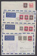 Mi-Nr. Aus 609/12, 4 Belege Mit MiF, Davon 3x Luftpost, 1x Eilboten - DDR