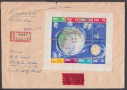 """Mi-Nr. 926/33, """"Weltraum"""", Kleinbögen 1962 Auf R-Eilboten Mit Ankunft - DDR"""