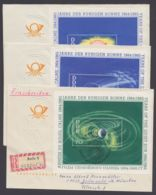 """Mi-Nr. Block 20/2, """"Jahr Der Ruhigen Sonne"""", 1964, Alle 3 Blocks, Je Auf C-6 Brief Mit Pass. ESst. - DDR"""
