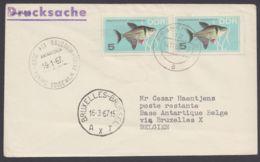 Mi-Nr. 1221, MeF Mit 2 Werten Auf Drucksache An Belg. Antarktisstation Mit Ankunft Und Retour - DDR
