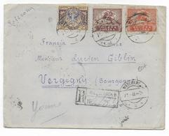 POLOGNE - 1921 - LETTRE RECOMMANDEE De WLOCLAWEK => VERGIGNY (YONNE) - - 1919-1939 Republik