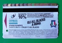 BIGLIETTO BIT TICKET METREBUS ROMA  GLI ALL BLACKS A ROMA 2018 - Europa