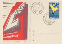 Carte  Maximum  1er  Jour  LUXEMBOURG   Foire   Internationale  De  LUXEMBOURG   1954 - Maximum Cards