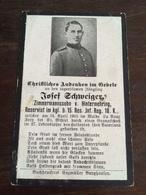Sterbebild Wk1 Ww1 Bidprentje Avis Décès Deathcard RIR15 WALD LA VAUX FERY BOIS ST. MIHIEL April 1915 Aus Hintermehring - 1914-18