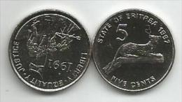 Eritrea 5 Cents 1997. UNC - Eritrea